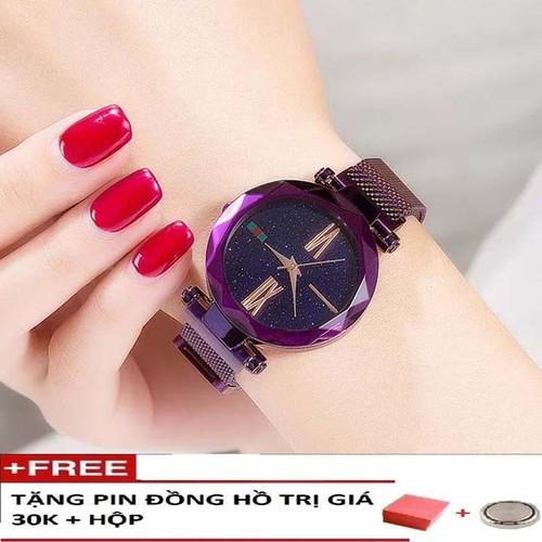 Đồng hồ thời trang nữ dây nhuyễn kim loại kháo nam châm cao cấp mặt kính pha lê chống xước-Tặng pin dự phòng+ hộp đồng hồ chính hãng - 4588978 , 13601188 , 15_13601188 , 500000 , Dong-ho-thoi-trang-nu-day-nhuyen-kim-loai-khao-nam-cham-cao-cap-mat-kinh-pha-le-chong-xuoc-Tang-pin-du-phong-hop-dong-ho-chinh-hang-15_13601188 , sendo.vn , Đồng hồ thời trang nữ dây nhuyễn kim loại kháo na