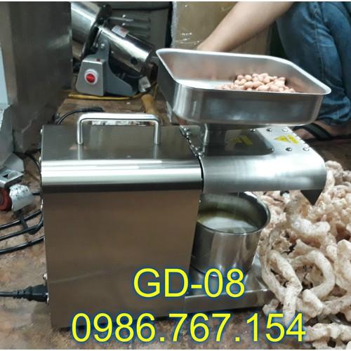 Tổng đại lý cung cấp máy ép dầu thực vật bằng inox GD08 4-5kg h