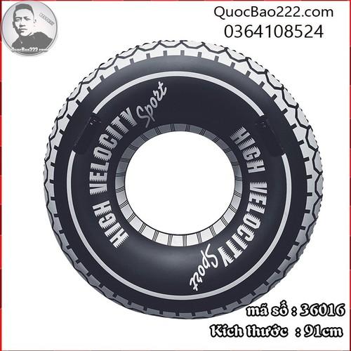 Phao bơi tròn hình bánh xe màu đen đường kính 91cm- Bestway 36016