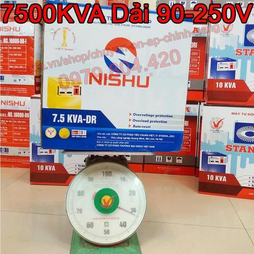Ổn Áp Nishu 7,5KVA DR dải 90-250V, bảo hành 4 năm, dây đồng - 6885859 , 13608314 , 15_13608314 , 3499000 , On-Ap-Nishu-75KVA-DR-dai-90-250V-bao-hanh-4-nam-day-dong-15_13608314 , sendo.vn , Ổn Áp Nishu 7,5KVA DR dải 90-250V, bảo hành 4 năm, dây đồng