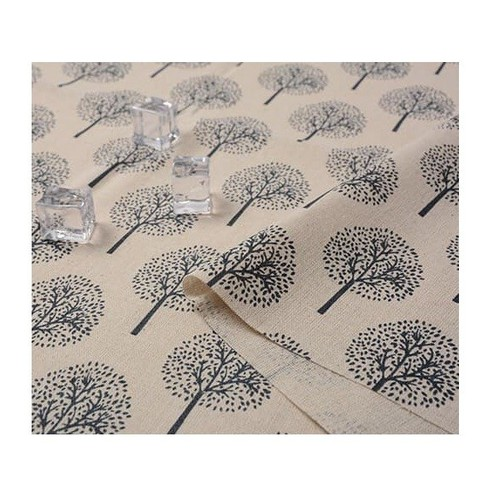 Khăn trải bàn chống thấm họa tiết cây tròn nhạt khổ 60cm x 60cm