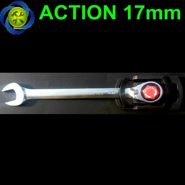 Cờ lê vòng miệng tự động Action 17mm có khóa 1