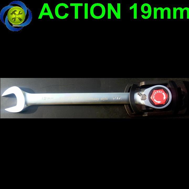 Cờ lê vòng miệng tự động Action 19mm có khóa 1