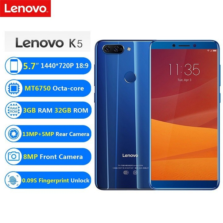 Điện thoại Lenovo K5 Ram3GB fullbox 2