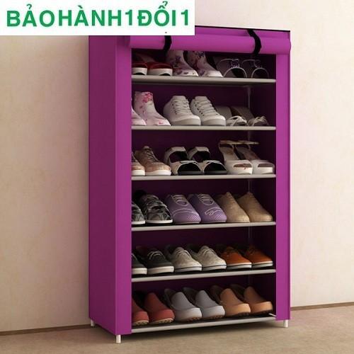 Tủ đựng giày 6 ngăn bằng vải cực ngăn nắp