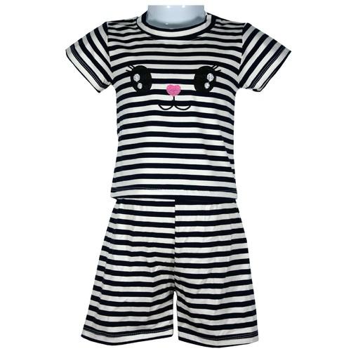 Bộ quần áo cộc tay kẻ ngang cotton 4 chiều siêu hot cho bé từ 8-18kg