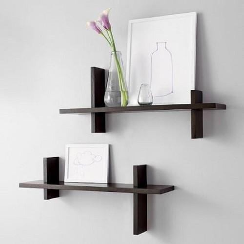 kệ treo tường 2 thanh chữ H đen-kệ trang trí-kệ treo đồ
