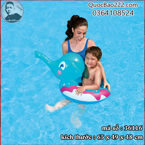 Phao bơi hình chú voi cho bé Bestway 36116