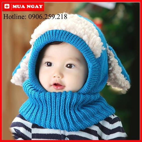 Mũ len cho bé - Mũ len tai cừu - Mũ len mùa đông