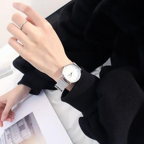 Đồng hồ dây đeo kim loại Nam và Nữ