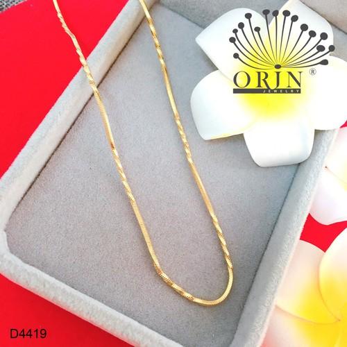 Dây chuyền dạng dây mì xoắn nhỏ móc khóa tròn bền màu cao cấp Orin D4419 - 10428043 , 13602222 , 15_13602222 , 59000 , Day-chuyen-dang-day-mi-xoan-nho-moc-khoa-tron-ben-mau-cao-cap-Orin-D4419-15_13602222 , sendo.vn , Dây chuyền dạng dây mì xoắn nhỏ móc khóa tròn bền màu cao cấp Orin D4419