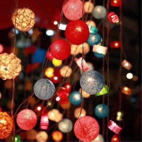 đèn cotton ball trang trí - 6882917 , 13604667 , 15_13604667 , 120000 , den-cotton-ball-trang-tri-15_13604667 , sendo.vn , đèn cotton ball trang trí