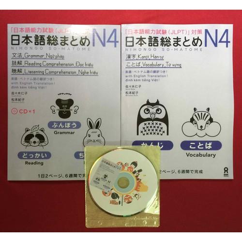 Somatome N4 trọn bộ 2 cuốn bản dịch tiếng việt