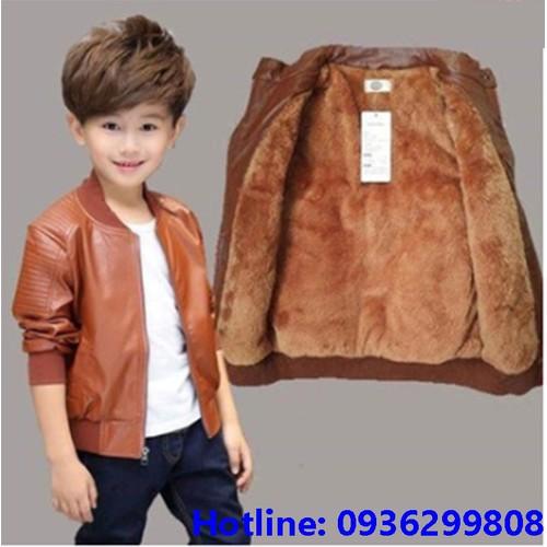 áo khoác da cho trẻ