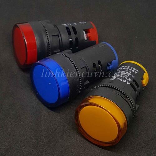 Đèn báo tín hiệu 220V màu vàng Φ22mm