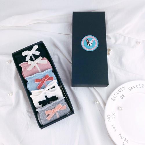 Hộp quà set 5 đôi vớ nơ công chúa - V70SH