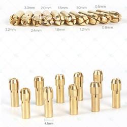 Bộ 10 đầu giữ mũi khoan mài khắc mini 0.5 – 3.2mm - phụ kiện máy khoan mài khắc