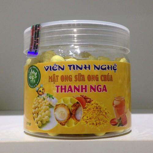 Viên tinh bột nghệ mật ong – sữa ong chúa Thanh Nga 250g
