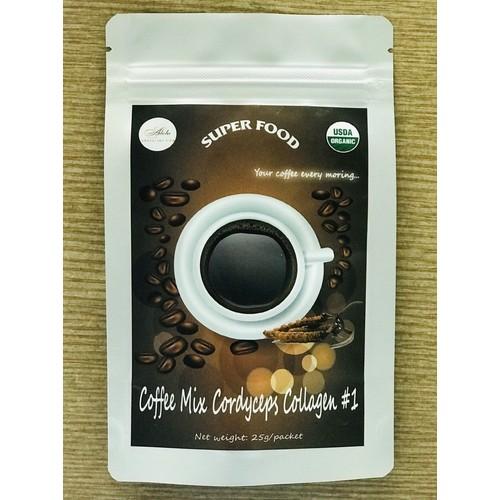 Coffee Mix Cordyceps Collagen #1 Adela Inc Organic
