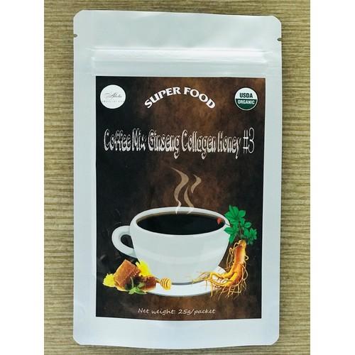 Coffee Mix Gingseng Collagen Honey #3 ADELA INC ORGANIC