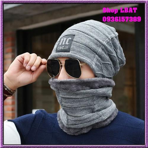 Mũ len trùm mặt- mũ len kèm khăn