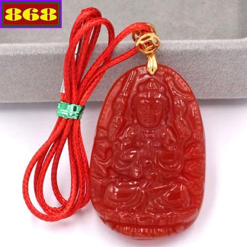 Vòng cổ Phật Thiên Thủ Thiên Nhãn đỏ 5 cm DOAON8