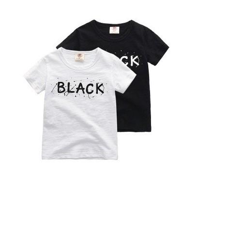 Áo thun bé trai bé gái trắng và đen thun sượt xinh mát - Hàng VNXK