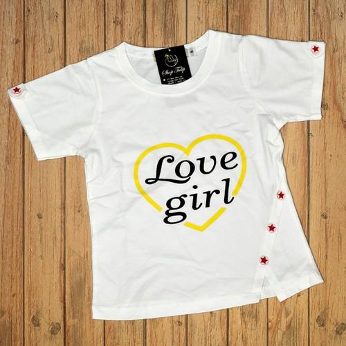 Áo thun lửng xẻ tà cho bé gái