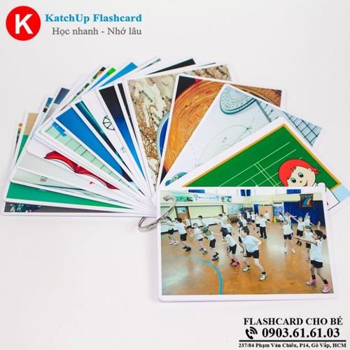 Bộ KatchUp Flashcard cho bé Tiếng Anh – Môn học – High Quality
