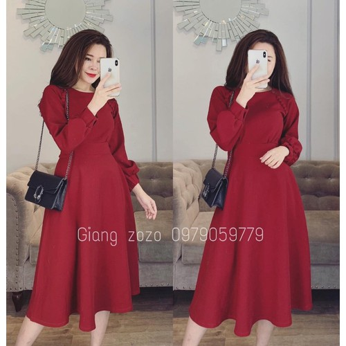 Váy dạ đỏ tay bồng sang trọng - 6897354 , 13622006 , 15_13622006 , 350000 , Vay-da-do-tay-bong-sang-trong-15_13622006 , sendo.vn , Váy dạ đỏ tay bồng sang trọng
