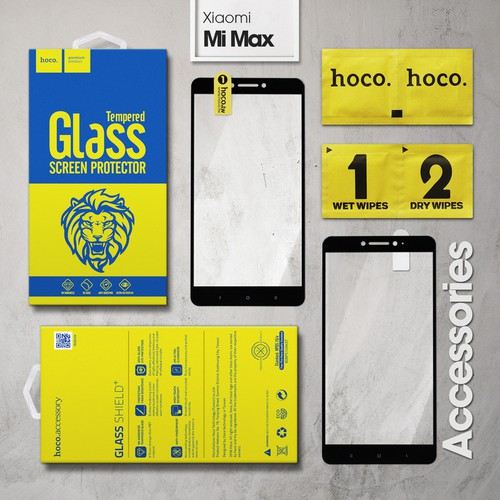 Kính cường lực Xiaomi Mi Max Full Hoco đen