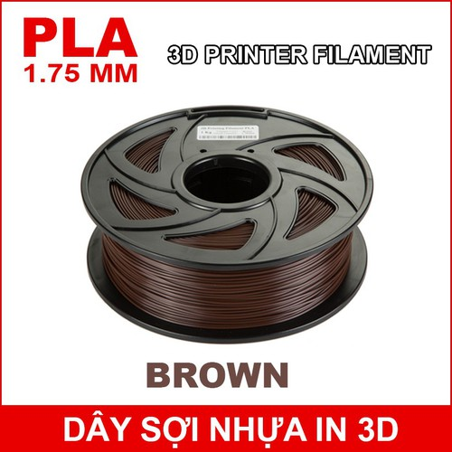 Dây sợi nhựa PLA in 3D 1.75mm 1Kg Brown