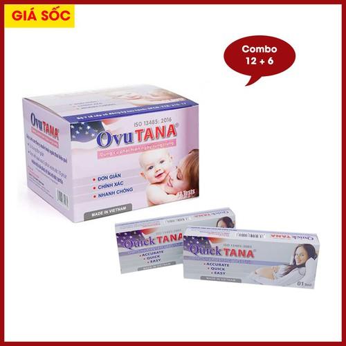 Hộp 12 que thử rụng trứng OVUTANA và 6 que thử thai QUICKTANA - 6895569 , 13620237 , 15_13620237 , 122000 , Hop-12-que-thu-rung-trung-OVUTANA-va-6-que-thu-thai-QUICKTANA-15_13620237 , sendo.vn , Hộp 12 que thử rụng trứng OVUTANA và 6 que thử thai QUICKTANA