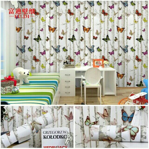 Giấy dán tường bướm 3D - keo sẵn -khổ rộng 45cm- dài 10m - 4591675 , 13622422 , 15_13622422 , 105000 , Giay-dan-tuong-buom-3D-keo-san-kho-rong-45cm-dai-10m-15_13622422 , sendo.vn , Giấy dán tường bướm 3D - keo sẵn -khổ rộng 45cm- dài 10m