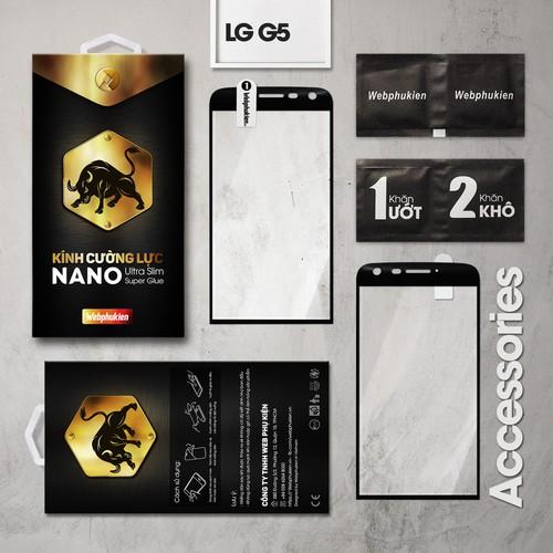 Cường lực LG G5 Full Webphukien đen