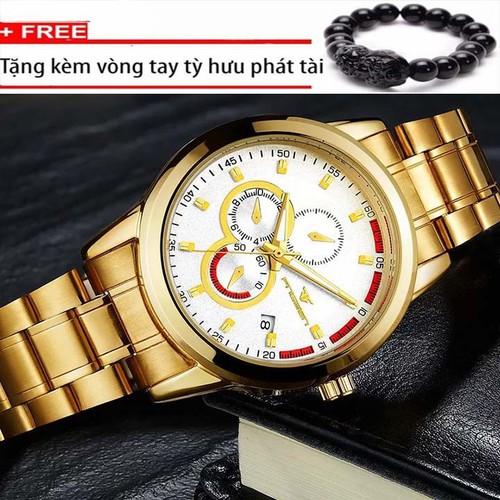 Đồng hồ nam cao cấp thời thượng dây thép đúc,không gỉ mặt kính chống nước chống xước thiết kế cổ điển sang trọng- Tặng vòng tỳ hưu may mắn - 6906946 , 13634438 , 15_13634438 , 500000 , Dong-ho-nam-cao-cap-thoi-thuong-day-thep-duckhong-gi-mat-kinh-chong-nuoc-chong-xuoc-thiet-ke-co-dien-sang-trong-Tang-vong-ty-huu-may-man-15_13634438 , sendo.vn , Đồng hồ nam cao cấp thời thượng dây thép đúc