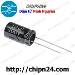 [10 CON] Tụ hóa 10uF 400V đen 10x17mm