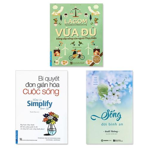 """Combo 3 cuốn sách """"Tâm yên trí nhàn"""": Lagom - Vừa Đủ - Đẳng Cấp Sống Của Người Thụy Điển, Bí Quyết Đơn Giản Hóa Cuộc Sống, Sống Đời Bình An - 6904854 , 13632041 , 15_13632041 , 274000 , Combo-3-cuon-sach-Tam-yen-tri-nhan-Lagom-Vua-Du-Dang-Cap-Song-Cua-Nguoi-Thuy-Dien-Bi-Quyet-Don-Gian-Hoa-Cuoc-Song-Song-Doi-Binh-An-15_13632041 , sendo.vn , Combo 3 cuốn sách """"Tâm yên trí nhàn"""": Lagom - Vừa"""