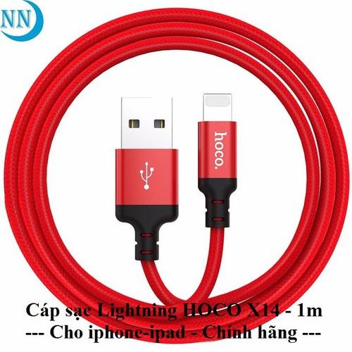 Cáp sạc hoco Lightning X14 cho - 1m & 2m - Hàng chính hãng - 10934376 , 13644793 , 15_13644793 , 40000 , Cap-sac-hoco-Lightning-X14-cho-1m-2m-Hang-chinh-hang-15_13644793 , sendo.vn , Cáp sạc hoco Lightning X14 cho - 1m & 2m - Hàng chính hãng