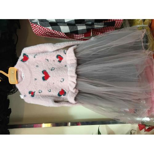 váy len cho bé