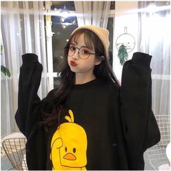 Áo hoodie nữ in hình con vịt