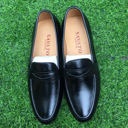 Giày lười nam da bò thật GN10 BH 1 năm - giày da nam