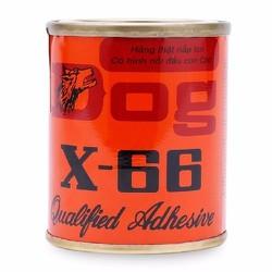 KEO CON CHÓ DÁN GIÀY DÉP GỖ NHỰA VẢI CAO SU DOG X-66 100ml