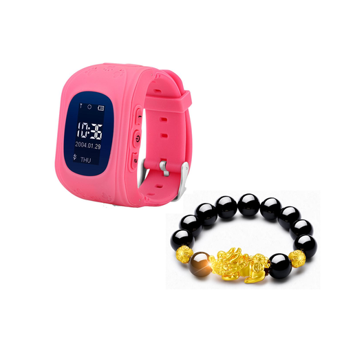 XẢ KHO 3 NGÀY - KHUYẾN MÃI KHỦNG - Đồng hồ thông minh định vị trẻ em GW300 cho bé - Tặng vòng tay tỳ hưu thạch anh tài lộc cho mẹ