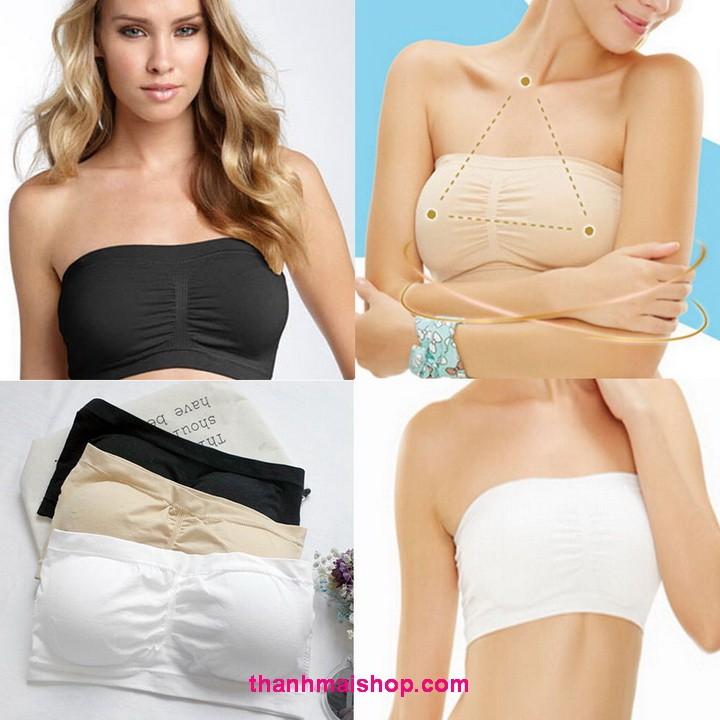 Áo ngực thể thao ống  AL010 Bandeau Bra mút đệm ngực