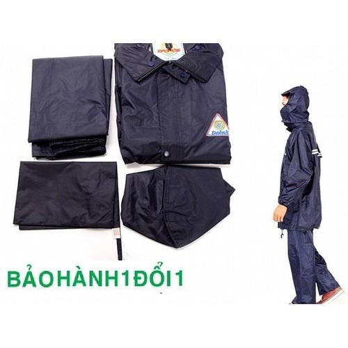 Bộ quần áo đi mưa vải dù chun co giãn siêu bền