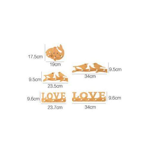 Bộ móc treo sản phẩm hình love  4258 Thế Giới Giá Sỉ