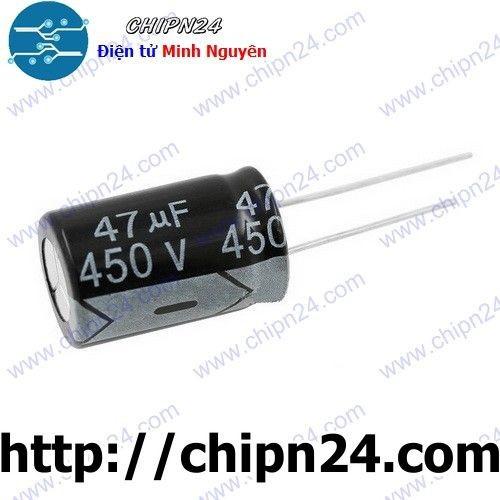 [4 CON] Tụ hóa 47uF 450V đen 16x25mm