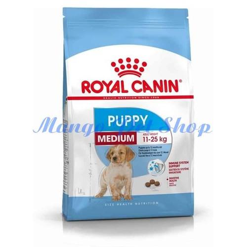 Thức Ăn Cho Chó Con Cỡ Nhỡ RoyalCanin Medium Puppy Túi Hãng 1Kg