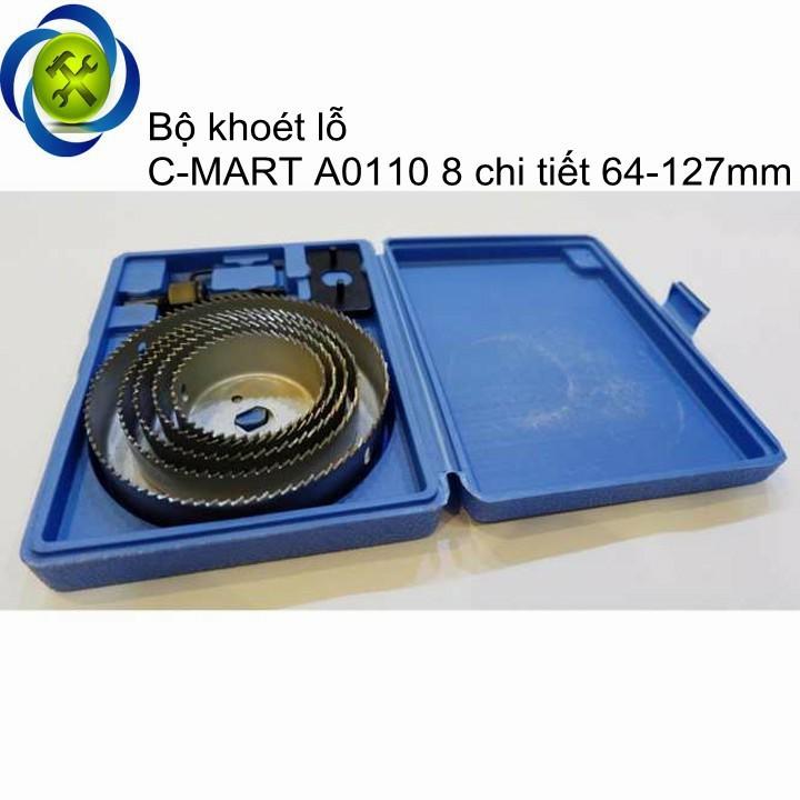 Bộ khoét lỗ C-MART A0110 8 chi tiết 64-127mm 1